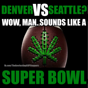 doobie bowl, super bowl, weed, cannabis, denver broncos, seattle seahwaks, pot