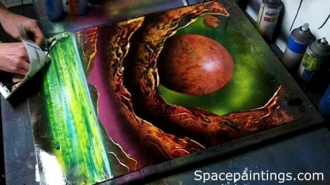 super sprayer, space paintings, the4519