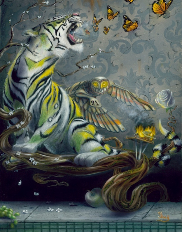 the rebirth shay davis, shay davis fine art, surreal